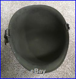 Vietnam or Korean War Us Army M1 Helmet Painted LT Bar Insignia Original