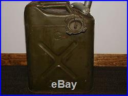 Vintage 18 High 1951 Us Army Korean War Military 5 Gallon Jerry Fuel Gas Can