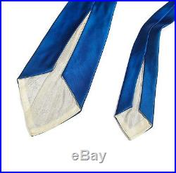 Vintage 1940s 1950s Post WWII Korean War Era Embroidered Souvenir Sukajan Tie