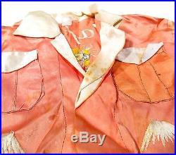 Vintage 1940s Post WWII Korean War Era Japan Sukajan Children's Souvenir Jacket