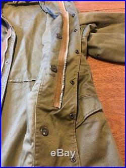 Vintage 1950s Deadstock M-1951 Large Field Jacket Korean War Military 50s