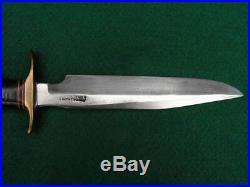 Vintage 1950s Korean War Randall Model 1-7 Fighting Knife Heiser Sheath