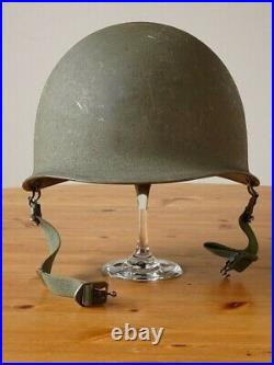 Vintage 1950s M1 U. S Helmet Korean War Era Shell Only Heat Stamped M-175A