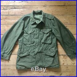 Vintage 1950s US Army Korean War era M51 field jacket 42 44 Chest