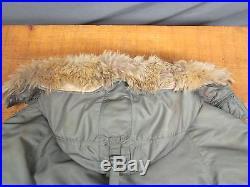 Vintage 1950s USAF Original N-3B Flight Parka Jacket Stencil Real Fur Korean War