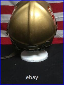 Vintage 1950s korean war fighter pilots US Navy Helmet H3-H4 Nice! Stingers