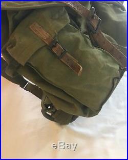 Vintage 1951 Korean War Canvas External Frame Rucksack Military Pack Backpack