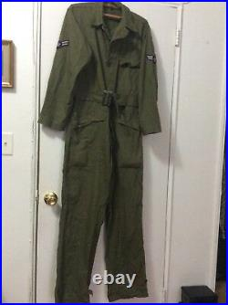 Vintage 1951 US Air Force HBT Flying Coveralls Flight Suit USAF Korean War era