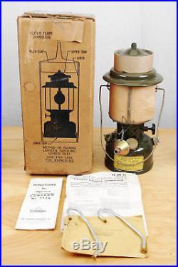 Vintage 1952 Coleman Military Korean War Era Military Spec 252A Gas Lantern