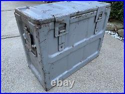Vintage 1952 Korean War Era 20 mm Ammo Box M12 Metal 18×15x9 Bullet Shell