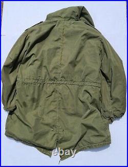 Vintage 1952 Korean War M-1951 Fishtail Parka Shell & Liner Us Army M51