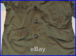 Vintage 1953 Korean War B-9 Parka! Fur Lined Hood! Quilted Lining! Deep Color 38