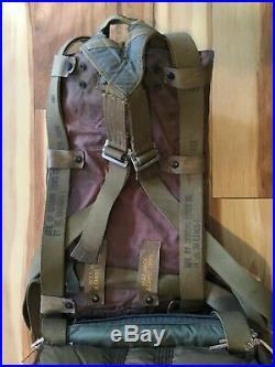 Vintage 1953 Korean War Sigmund Eisner Military Seat Style Pilot Parachute