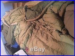 Vintage 1953 Korean War US Military Casualty Down Sleeping Bag Fur Liner