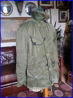 Vintage 50's 1953 British Army Korean War Terry Gwyer 928 Middle Parka. Medium