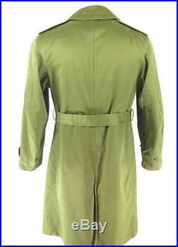Vintage 50s M-1950A Coat Overcoat Mens M Military Korean War Patches
