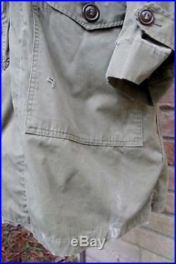 Vintage 51 KOREAN War US Air Force USAF OVERCOAT PARKA TYPE with PILE LINER Small