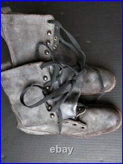 Vintage Army Boots size 8 1/2 Roughout never worn Korean War era