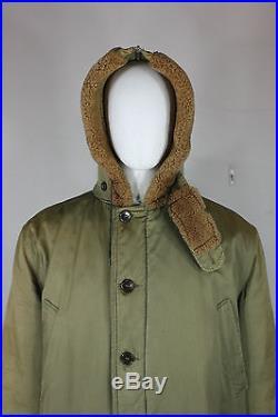 Vintage B-9 parka XL to 2XL coat jacket Korean war 50's USAF military