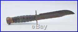 Vintage Camillus NY Fixed Blade Survival Knife Vietnam Korean War 10.5