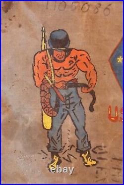 Vintage Canvas Military Bag Korean War US Marine Soldier 1951 Sea Bag Original