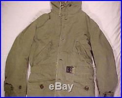 Vintage Gi Jacket Original Korean War M-1947 Parka & Liner
