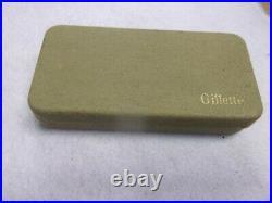 Vintage Gillette Canadian Khaki Tech Razor Set 1932 Korean War Military