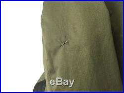 Vintage Green Cotton Overcoat With Removable Wool Liner US Army OD 7 Korean War