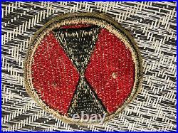 Vintage Korean War 7th Infantry Order Of The Bayonet Enameled Badge Pin 2/Patch