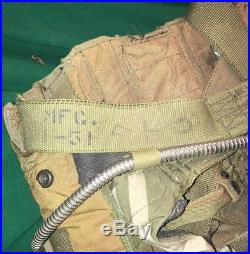 Vintage Korean War Era Air Force Pilots 1952 Back Parachute W 1951 Harness