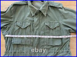 Vintage Korean War Field Jacket M-1951 US Army 50s M51 Coat Combat Large USA
