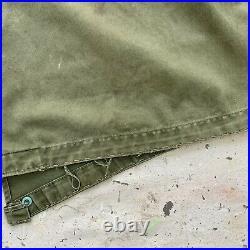 Vintage Korean War M-1951 Fishtail Parka Mens Medium Coat Jacket