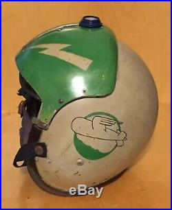 Vintage Korean War MSA APH Fighter Pilot Flight Helmet With Retractable Visor