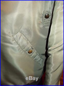 Vintage Korean War OD B-15 Jacket Black Label Marked Size 40 AF-33 (652) 5279