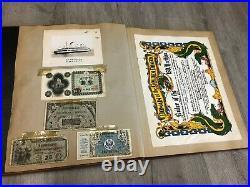 Vintage Korean War Scrapbook Bullion patch Pins 59 Photos Letters Poem much more