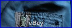 Vintage Korean War U. S. Airforce Navy Blue B-15C Military Flight Jacket Men's 40