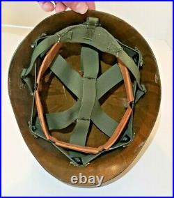 Vintage Korean War US Army Military Police MP Helmet 728th Battalion