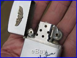 Vintage Korean War USAF Fighter Pilots 1950 Zippo Patent 2032695 with Box & Papers