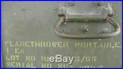 Vintage Korean War USGI M2A1 Thrower Case/Crate Dated 1950's