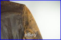 Vintage Korean War USMC Helicopter Pilot Leather Jacket HMX-1 Edward P. Gallen