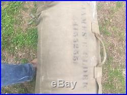 Vintage Korean War casulity sleeping bag