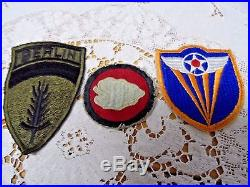 Vintage Lot of WWII WW 2 Korean War etc. Military Patches