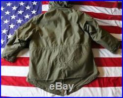 Vintage! M-1948 Us Army M-48 Parka Liner Medium Coyote Fur Fishtail Korean War