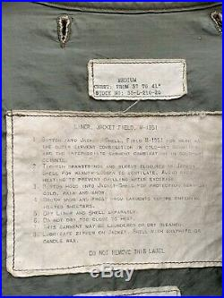 Vintage M-1951 Fishtail Liner US Army Korean War For Field Jacket Medium
