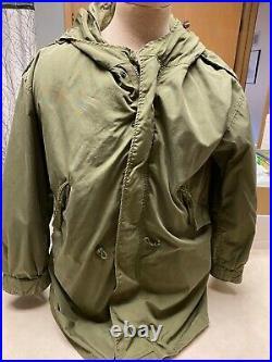 Vintage M-1951 Korean War Era Army Cold Weather Parka WithLiner