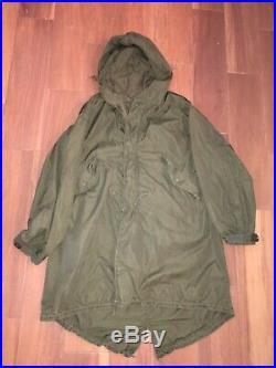 Vintage M-1951 Korean War Lined Field Parka Jacket Size Small