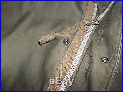 Vintage M-51 USMC Marines US Army Korean War Fishtail Parka Jacket