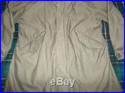 Vintage M-51 USMC Marines US Army Korean War Fishtail Parka Jacket Large Size