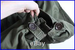 Vintage Military Fishtail Parka M1951-M1951 Liner Wool-Alpaca Korean War Issue L