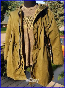 Vintage Military Fishtail Parka M1951-M1951 Liner Wool-AlpacaKorean War IssueS